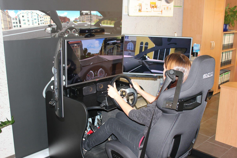 simulator mit fahrer